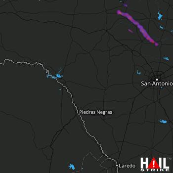 Hail Map Mason, TX 05-10-2021