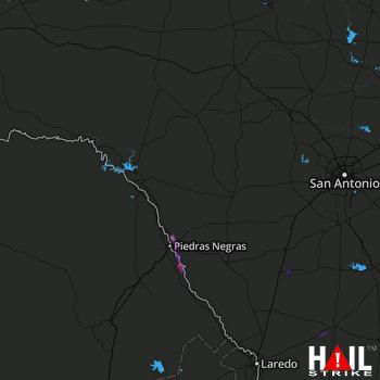 Hail Map Eagle Pass, TX 06-05-2017