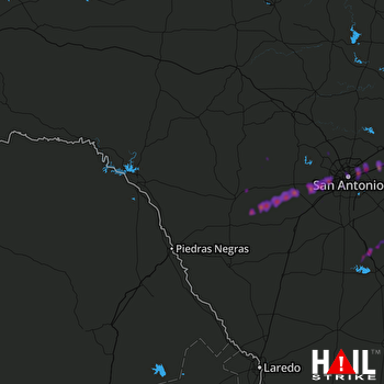 Hail Map Seguin, TX 03-28-2018