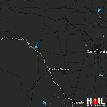 Hail Map LAUGHLIN AFB 06-13-2018