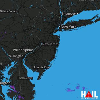 Hail Map Harrisburg, PA 08-20-2019