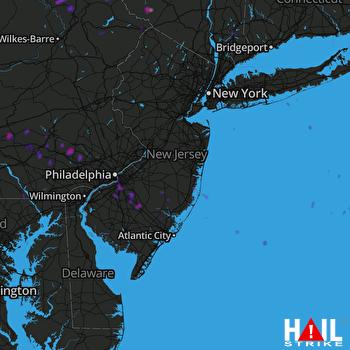 Hail Map York, PA 06-03-2020