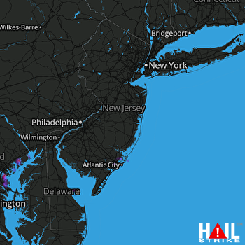 Hail Map Dundalk, MD 07-05-2020