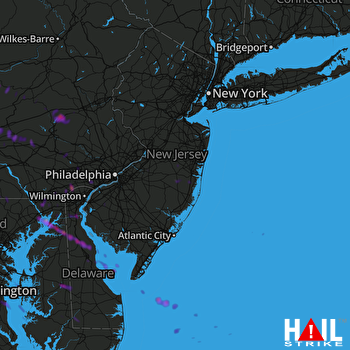 Hail Map Lebanon, PA 08-28-2020