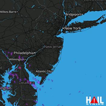 Hail Map Hockessin, DE 05-13-2018