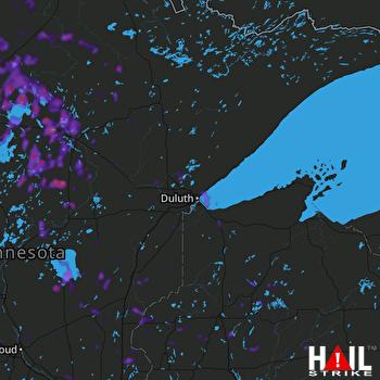 Hail Map Bemidji, MN 06-30-2019