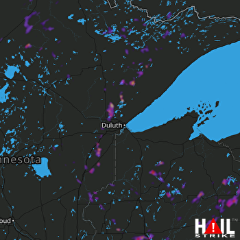Hail Map Minneapolis, MN 08-03-2019