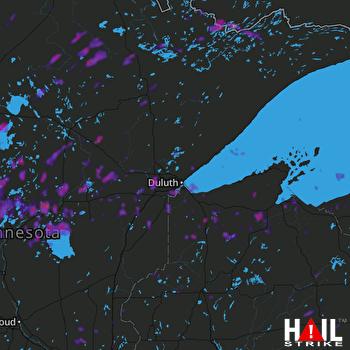 Hail Map Duluth, MN 07-08-2020