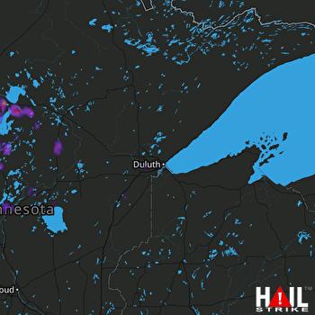 Hail Map Park Rapids, MN 07-18-2020