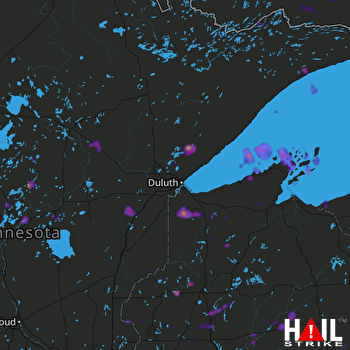Hail Map Forest Lake, MN 07-18-2020