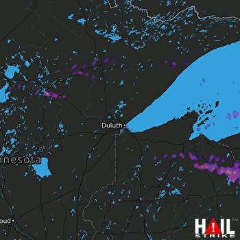 Hail Map Hibbing, MN 09-25-2020