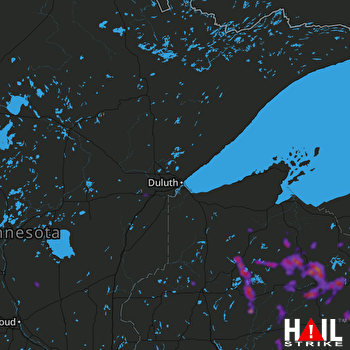 Hail Map Park Falls, WI 06-11-2021
