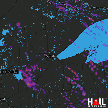Hail Map Rice Lake, WI 07-06-2017