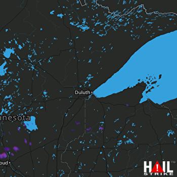 Hail Map Rice, MN 07-26-2017