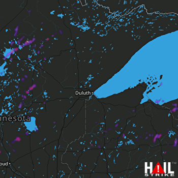 Hail Map Minneapolis, MN 05-24-2018