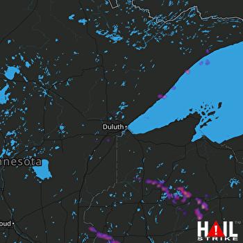 Hail Map Menomonie, WI 05-25-2018