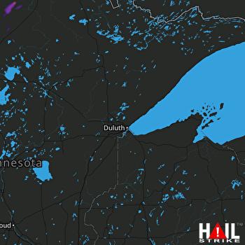 Hail Map Kelliher, MN 07-15-2018