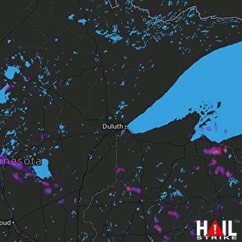 Hail Map Eau Claire, WI 08-03-2018