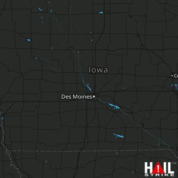 Hail Map Columbus Junction, IA 08-29-2018