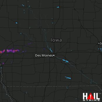 Hail Map Woodbine, IA 09-25-2018