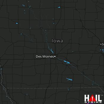 Hail Map DES MOINES 05-18-2019