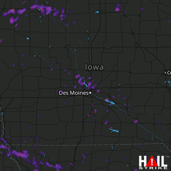 Hail Map Ottumwa, IA 07-20-2019