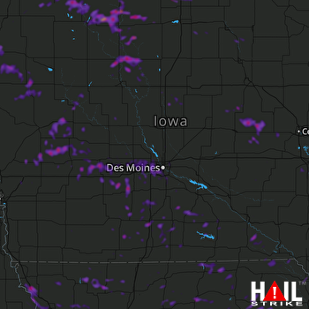 Hail Map West Des Moines, IA 08-20-2019