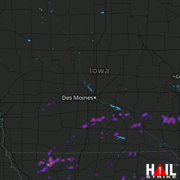 Hail Map Ottumwa, IA 05-14-2020