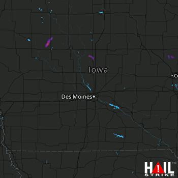 Hail Map Jewell, IA 08-23-2020