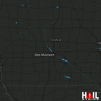 Hail Map Blue Earth, MN 08-31-2020