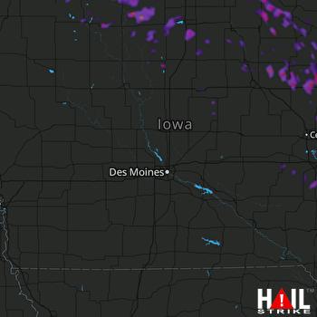 Hail Map Anamosa, IA 09-06-2020