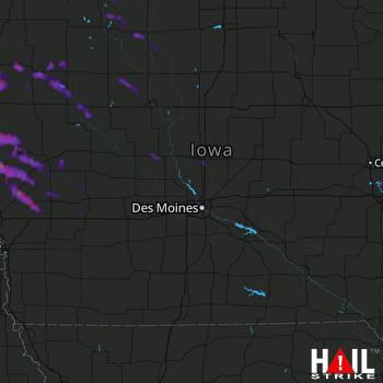 Hail Map Storm Lake, IA 07-09-2021