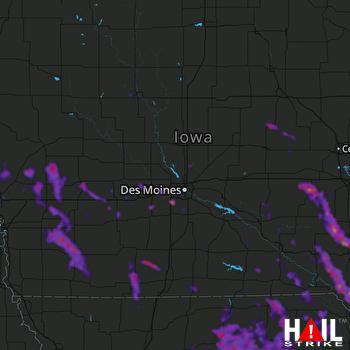 Hail Map West Des Moines, IA 07-10-2021