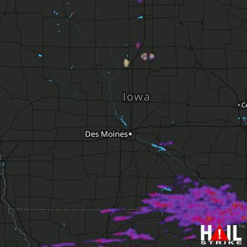 Hail Map Kirksville, MO 08-12-2021