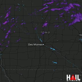 Hail Map Elkhorn, NE 08-28-2021