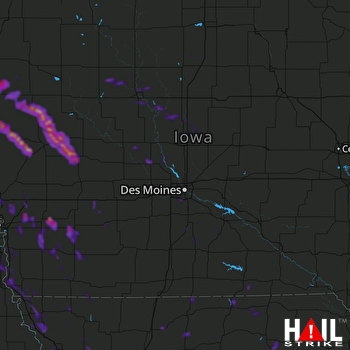 Hail Map Blair, NE 08-31-2021