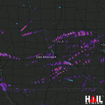 Hail Map Ames, IA 04-16-2017