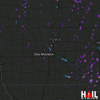 Hail Map Waterloo, IA 05-17-2017