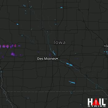 Hail Map Denison, IA 07-11-2017