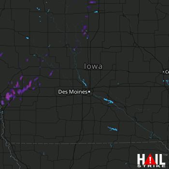 Hail Map Clarion, IA 09-16-2017
