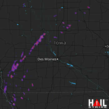 Hail Map Iowa Falls, IA 04-13-2018