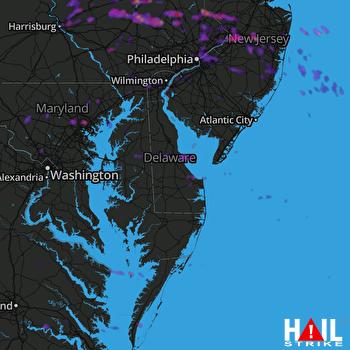Hail Map Philadelphia, PA 05-29-2019