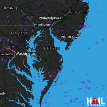 Hail Map Silver Spring, MD 06-02-2019