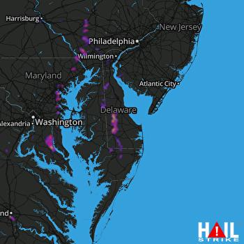 Hail Map Baltimore, MD 08-01-2019