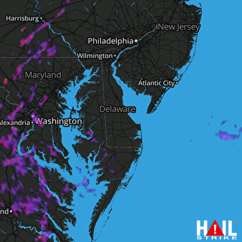 Hail Map Silver Spring, MD 08-20-2019