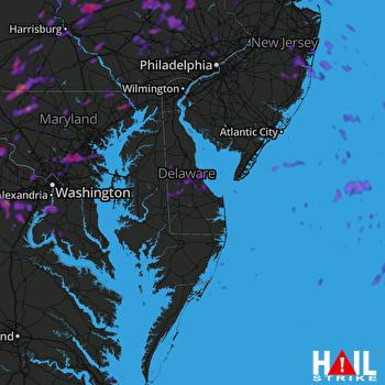 Hail Map Harrisburg, PA 05-26-2021