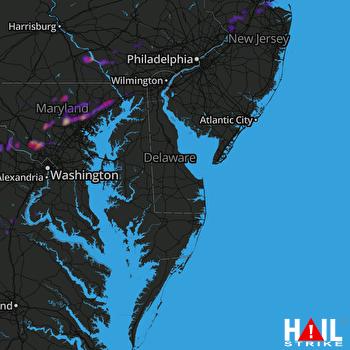 Hail Map Gaithersburg, MD 06-03-2021