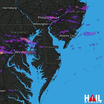 Hail Map Baltimore, MD 06-15-2021