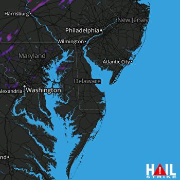 Hail Map Waynesboro, PA 06-22-2021