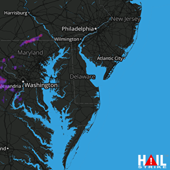 Hail Map Manassas, VA 05-18-2017